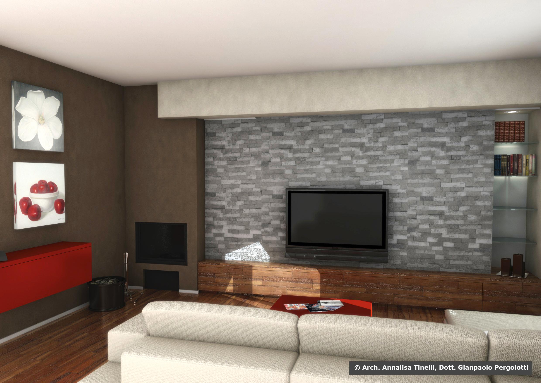 studio di interni progettazione di soggiorno